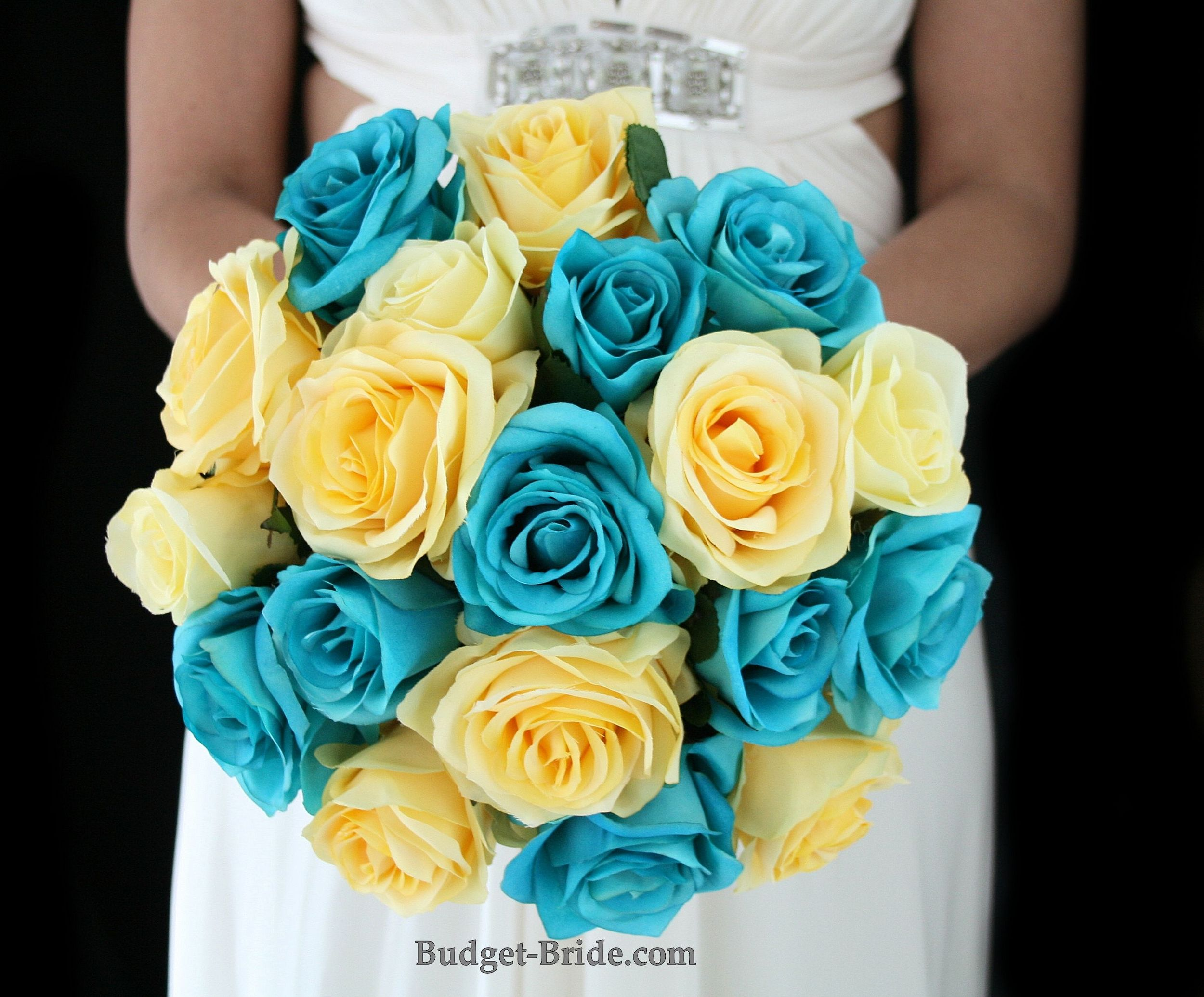 Yellow And Turquoise Wedding Flowers