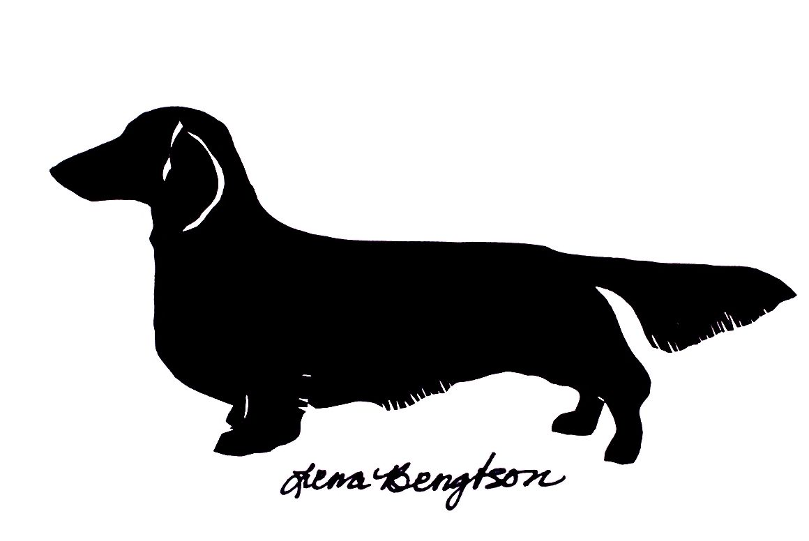 silhouettes long haired dachshund silhouettes pinterest long