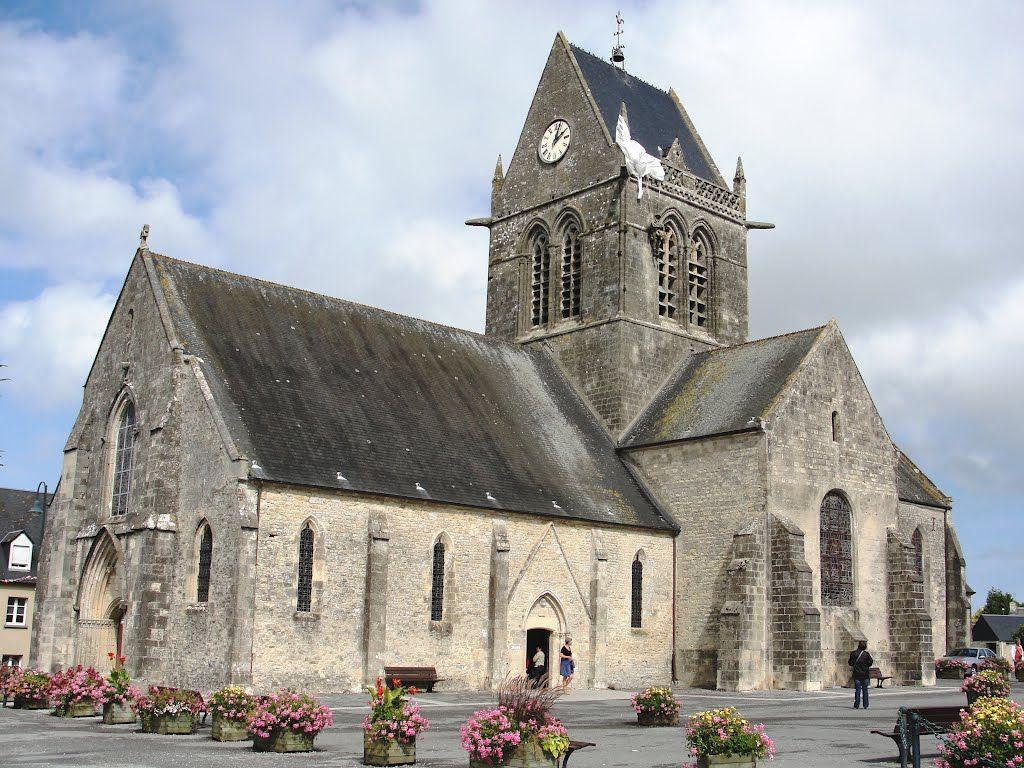 Ste Marie Eglise Normandy France 6 juni 1944 eerste stad dat werd bevrijd door de geallieerden. 70 jaar geleden