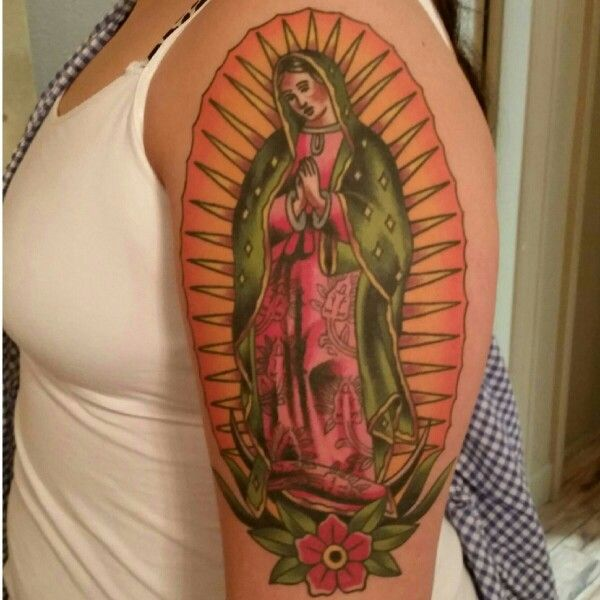 Virgen de guadalupe traditional tattoo vinnie 39 s for Virgen de guadalupe tattoo