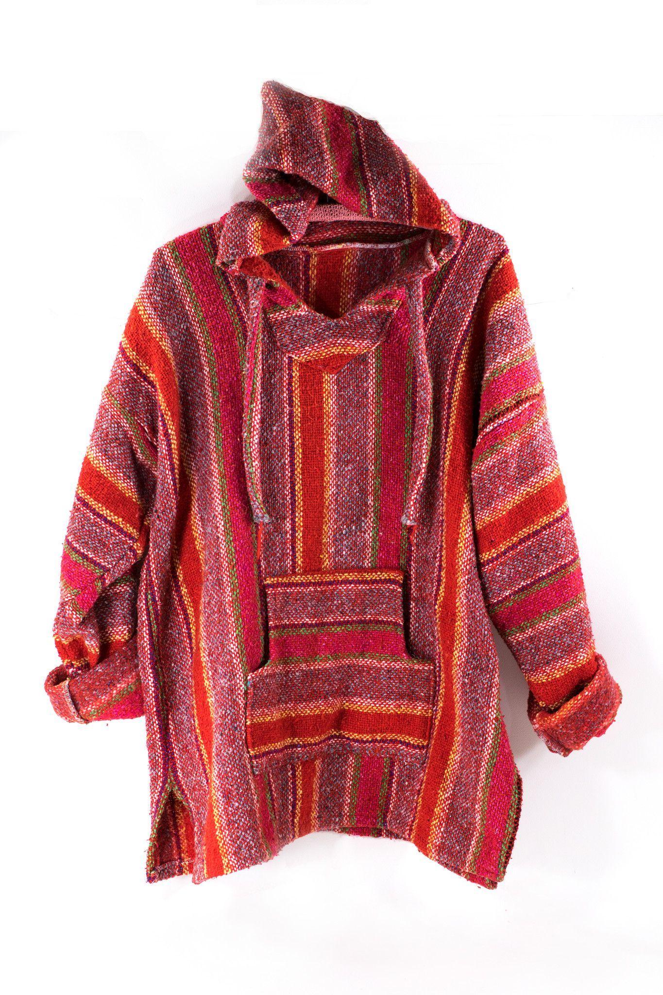 Baja surf poncho vintage s mexican hoodie sweater unisex drug rug