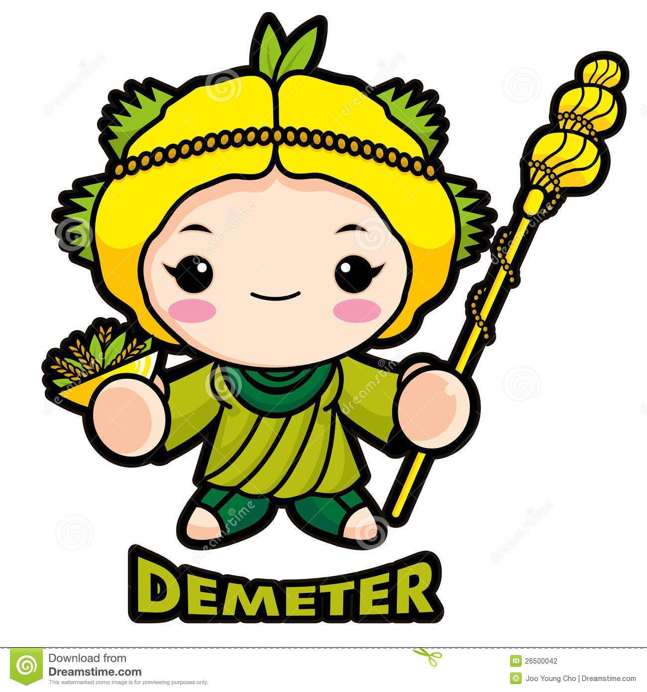 Demeter is de godin van de vruchtbaarheid, moeder van
