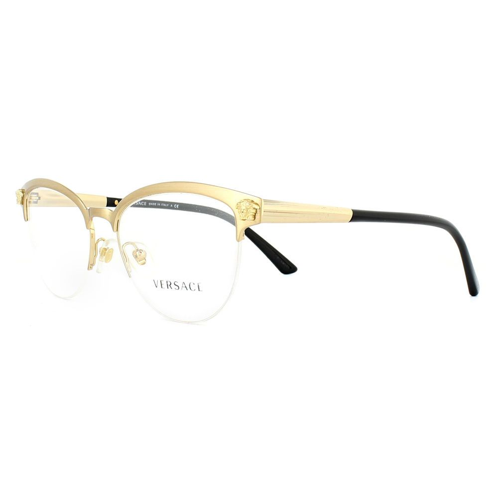 f66bafb2f10 Versace Glasses Frames 1235 1352 Brushed Gold 53mm Womens  Versace  CatEye