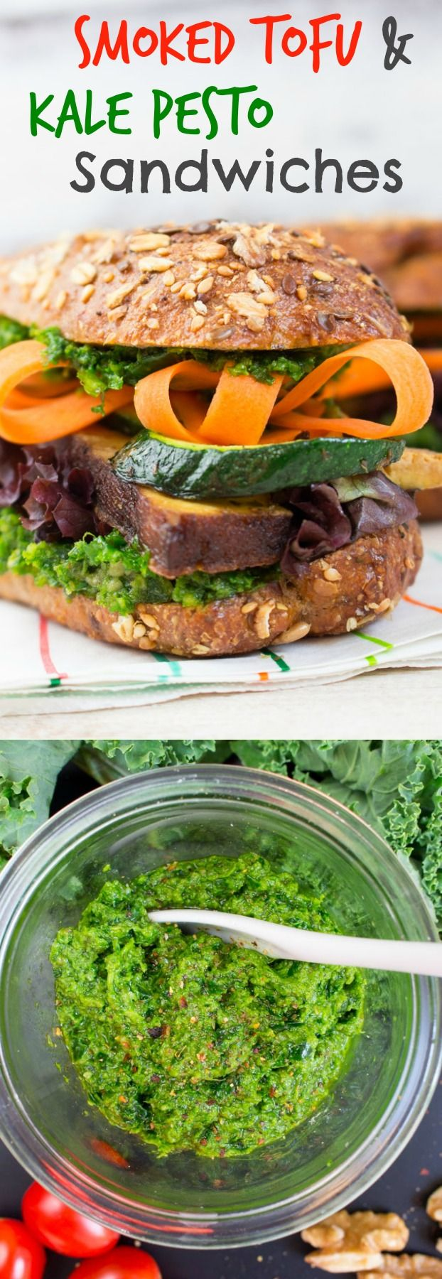 Tofu and Kale Pesto Sandwich | Recipe | Best Pesto ...
