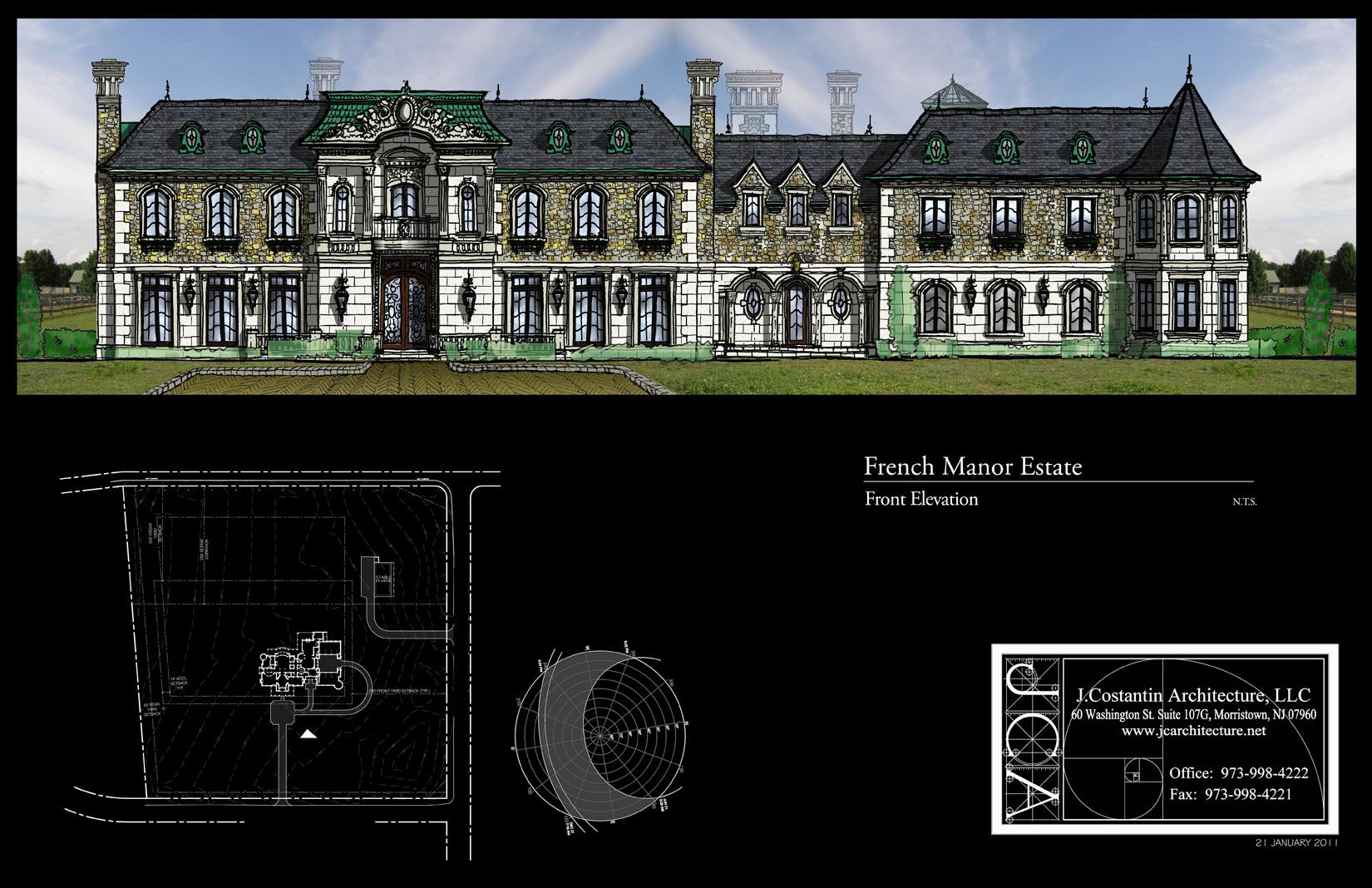 Jca Architects 25 000 sq ft front elevation j costantin architecture colts neck