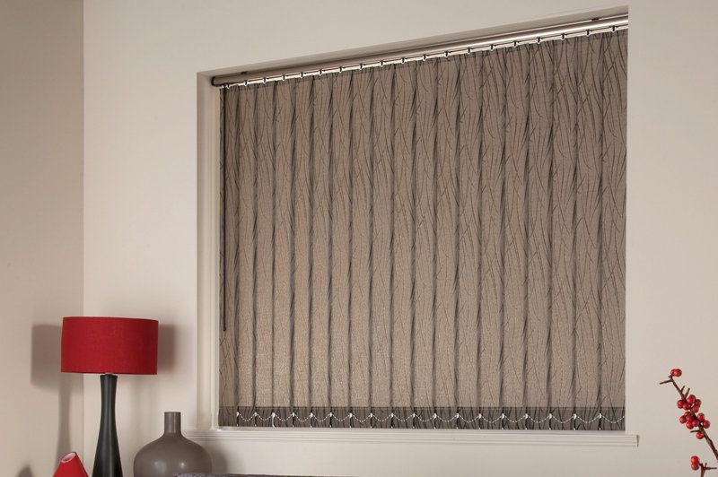 Cloth Vertical Blinds Fabric Wide Window