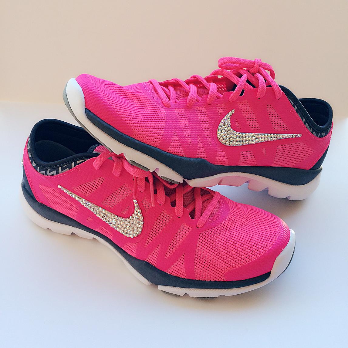 Nike Flex Supreme TR3 Swarovski Bling Shoe - Pink  f70a1d9d51aa