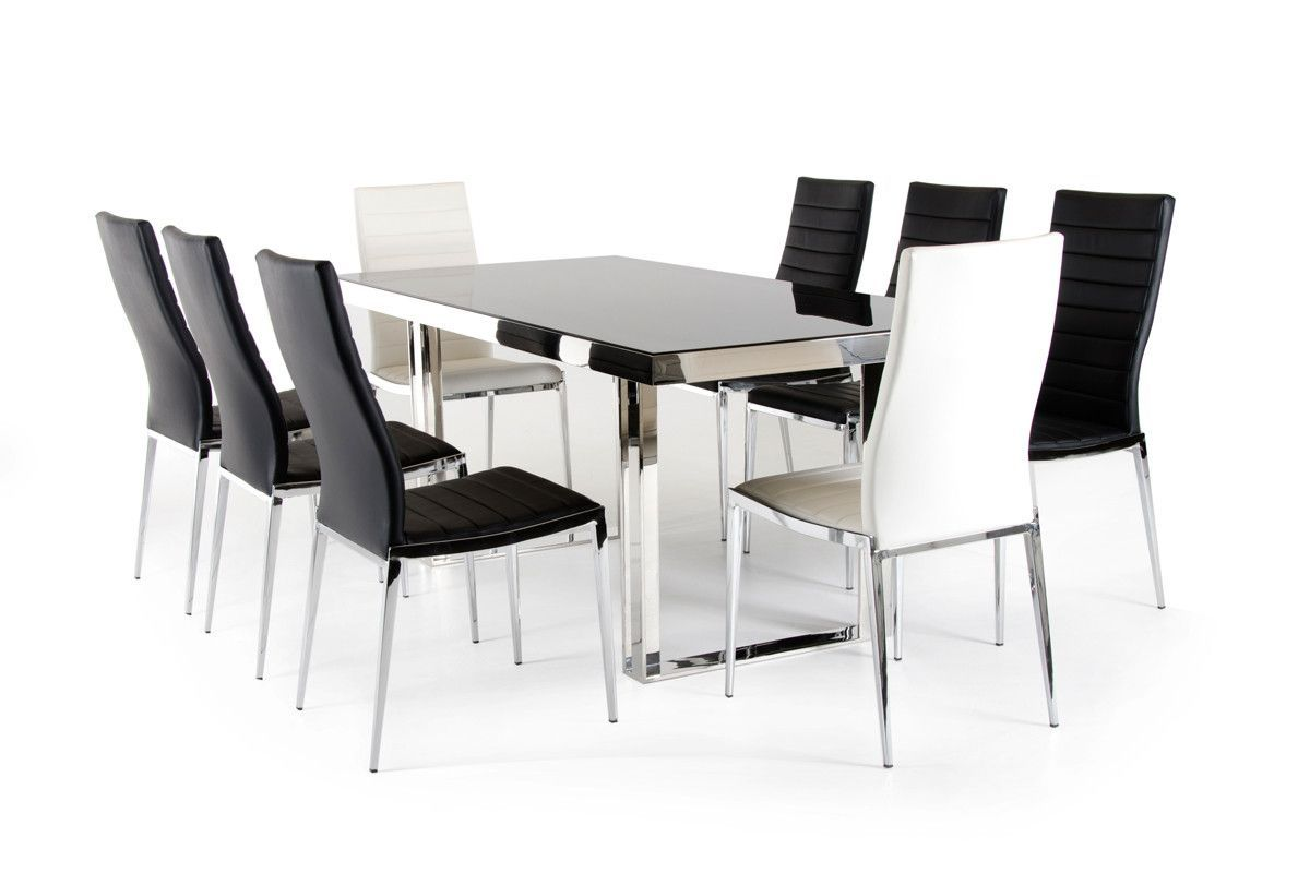 Modrest Courtland Modern Stainless Steel Dining Table | Pinterest ...