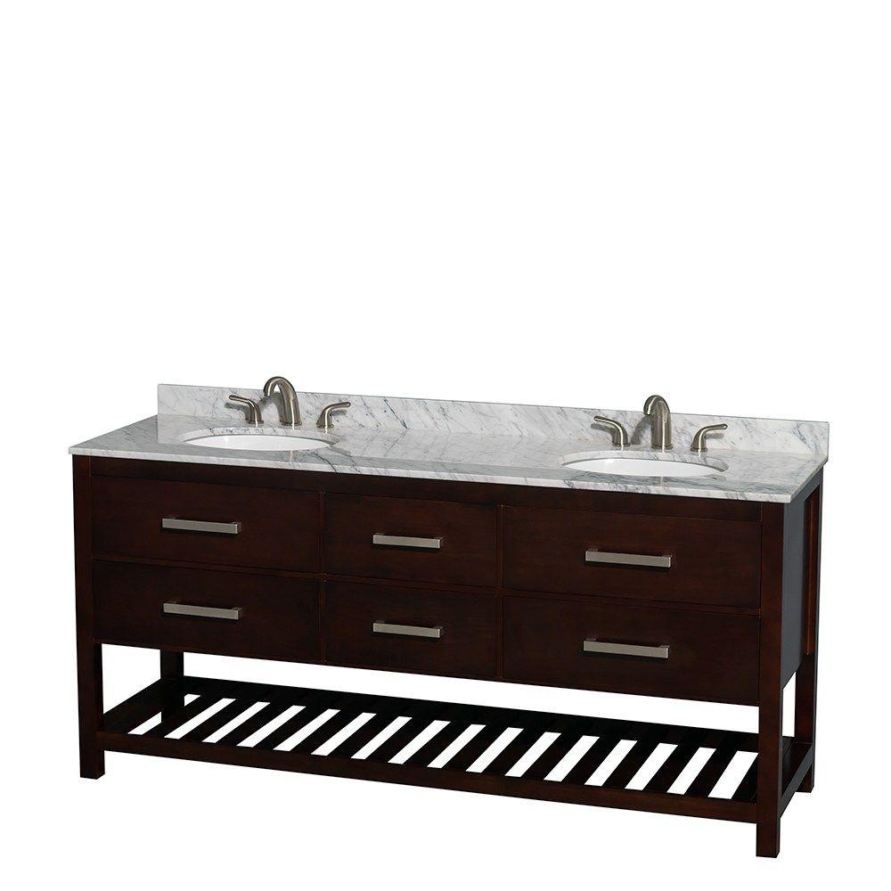 Wyndham Collection Natalie 72 Inch Espresso Um Oval Sink Double