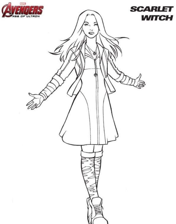 Coloring Page Avengers Scarlet Witch Avengers Coloring Avengers Coloring Pages Marvel Coloring