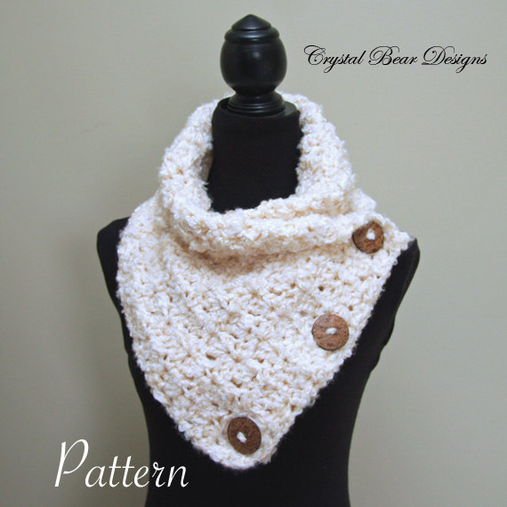 Crochet PATTERN Cowl with Buttons / Primrose Neck Warmer | Products ...