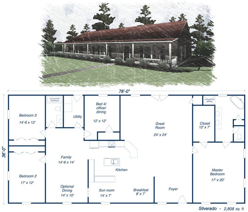 Click To Toggle The Silverado Floor Plan Metal House Plans Metal Building Homes Steel House