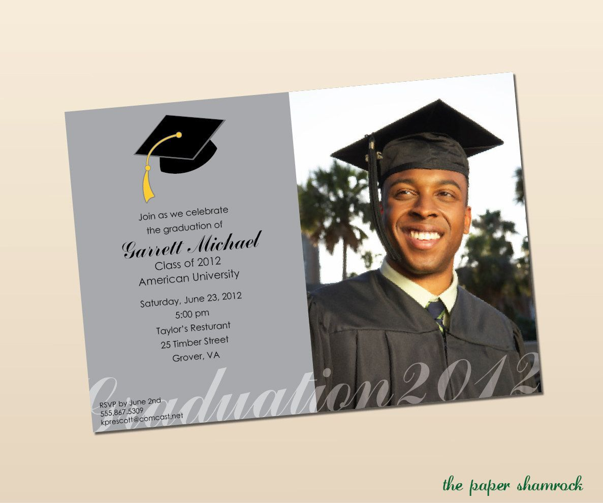 High School Graduation Party Menu – Graduation Invitation Maker