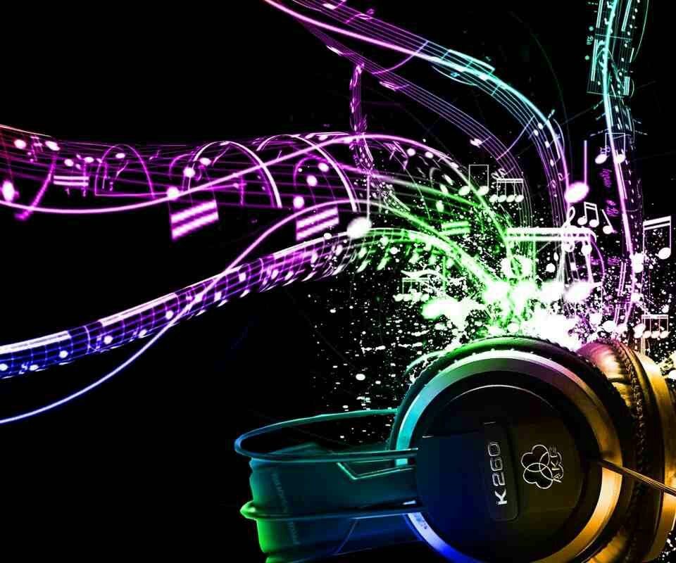 Headphones Music Notes: Music Notes Coming Out Of Headphones