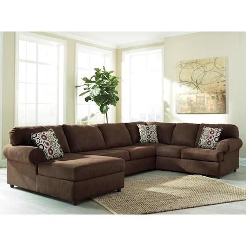 Get Your Jayceon   Java 3 Pc LAF Corner Chaise Sectional At Roadside  Furniture, Ramsey MN Furniture Store.