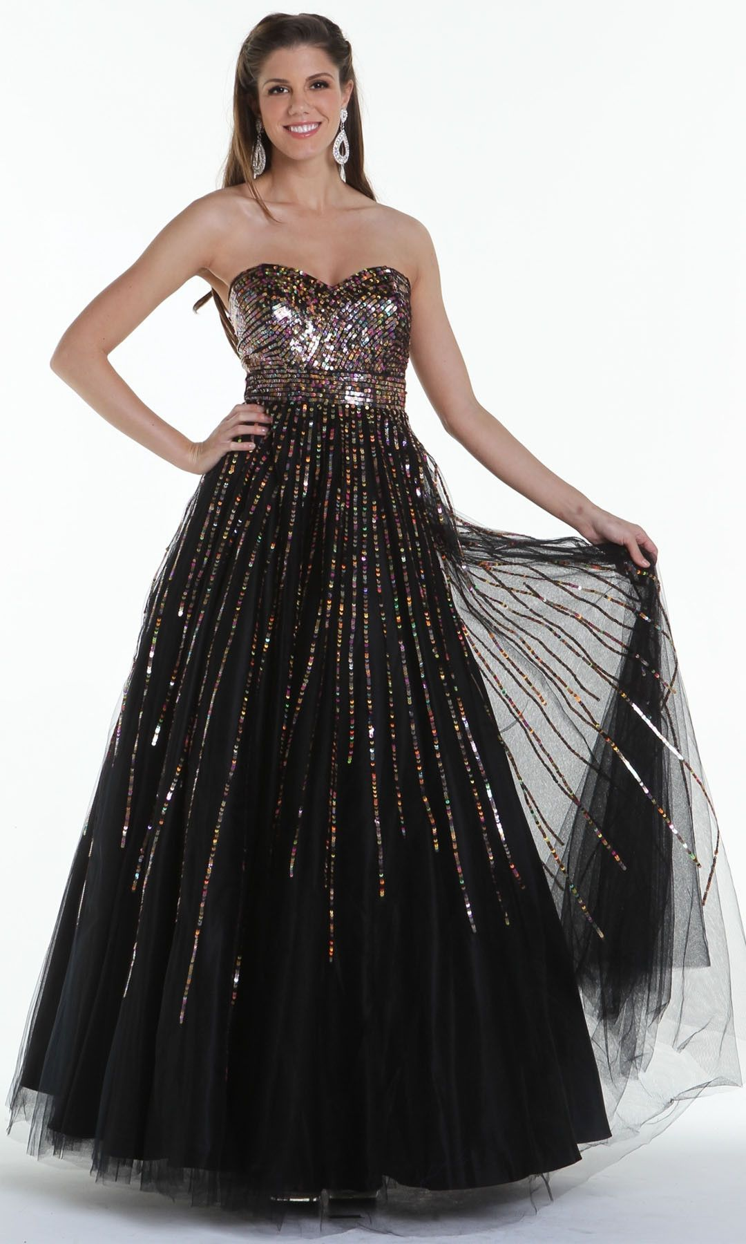 On special limited stock black ball gown strapless sweetheart gold