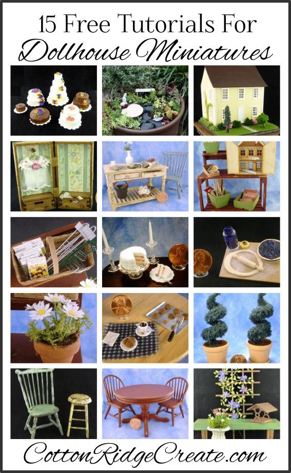 15 Free Tutorials For One Inch Scale Dollhouse Miniatures Try