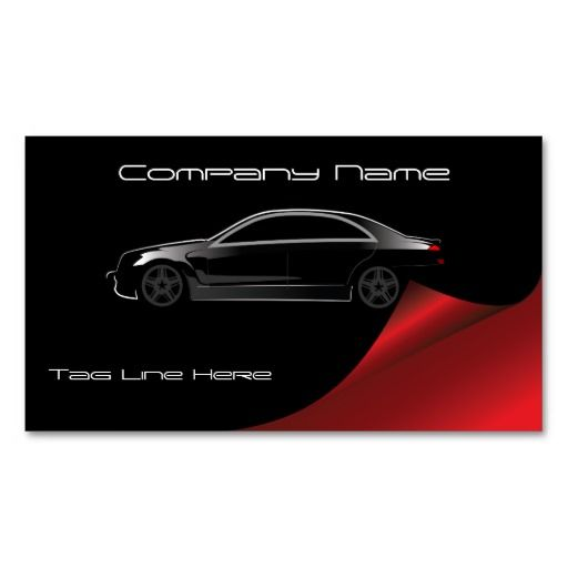 Automotive Business Card Zazzle Com In 2021 Red Business Cards Cool Business Cards Business Cards