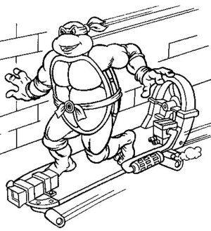 Teenage Mutant Ninja Turtles in Characters Coloring Page - Free ...