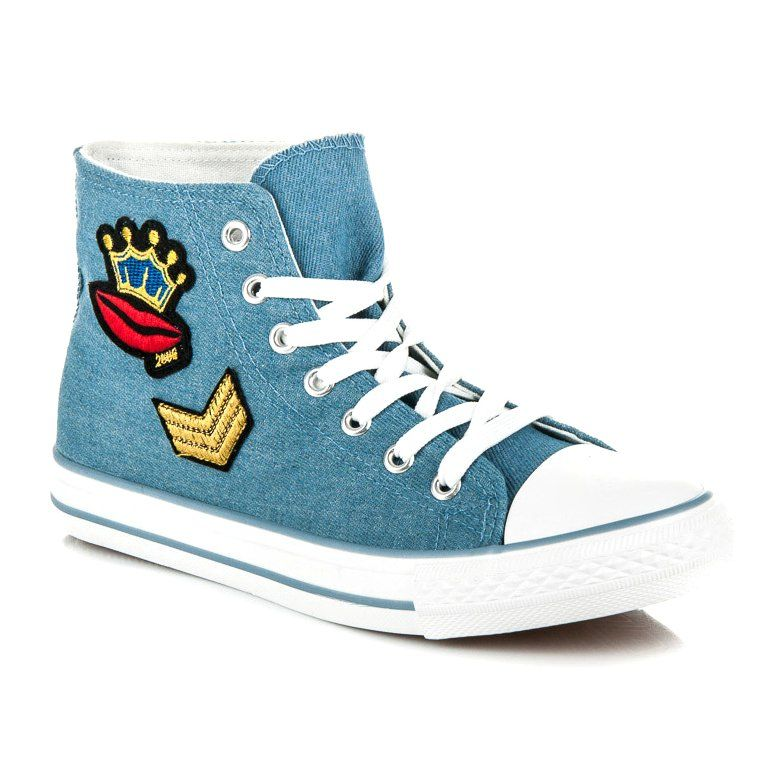 Wysokie Tenisowki Na Wiazanie Niebieskie Converse Chuck Taylor High Top Sneaker High Top Sneakers Chuck Taylors High Top