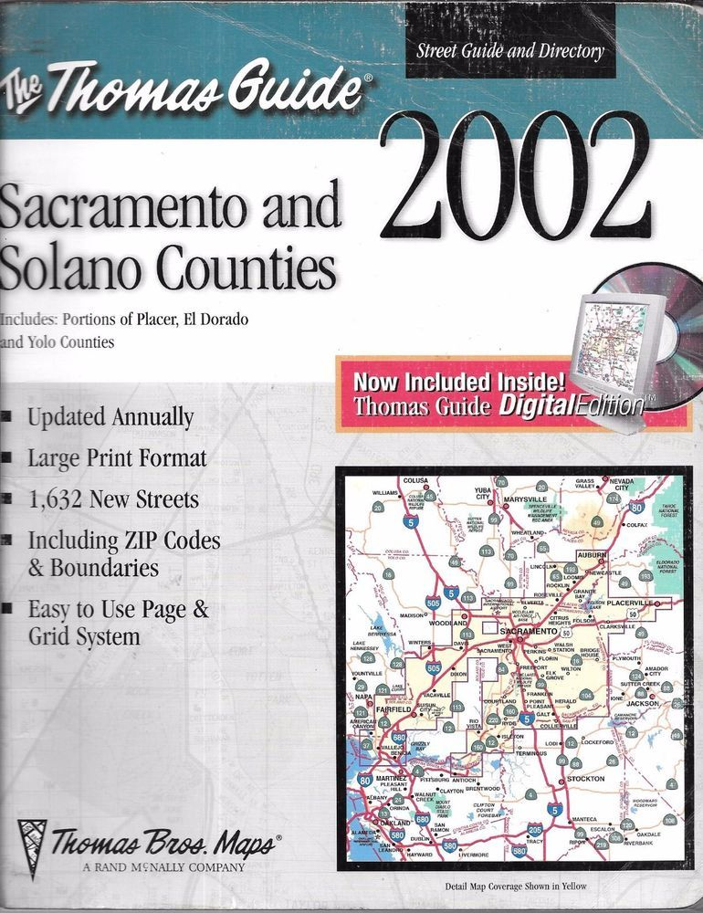 The Thomas Guide Sacramento And Solano Counties Spiral Bound - Us paper map thomas guide