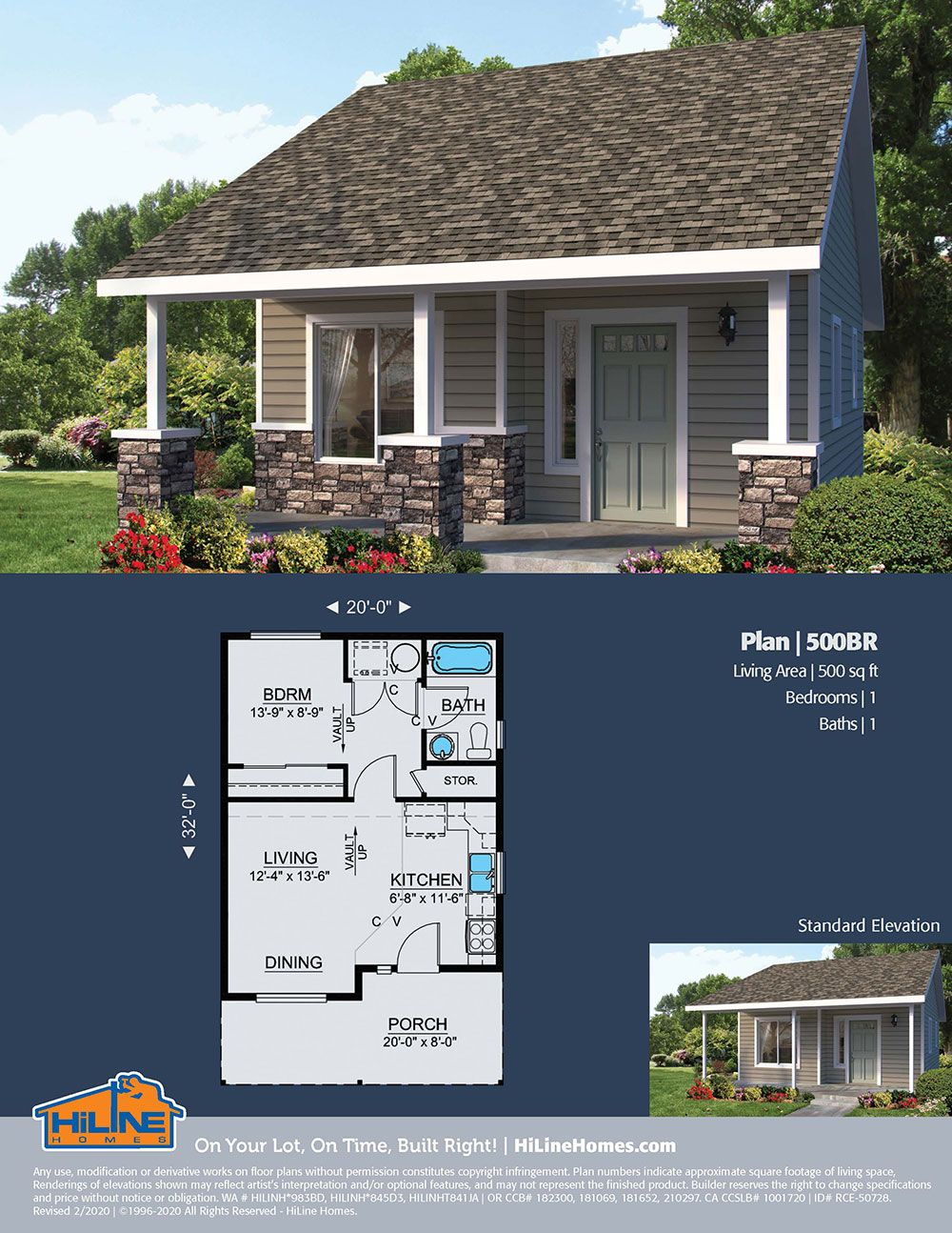 Hiline Homes Plan 500b Floor Plans House Plans Vacation Home