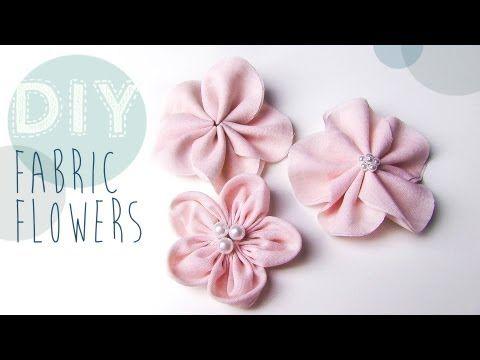 blumen aus stoff selber basteln, diy stoff-blumen selber machen - youtube | kids | pinterest | nähen, Design ideen
