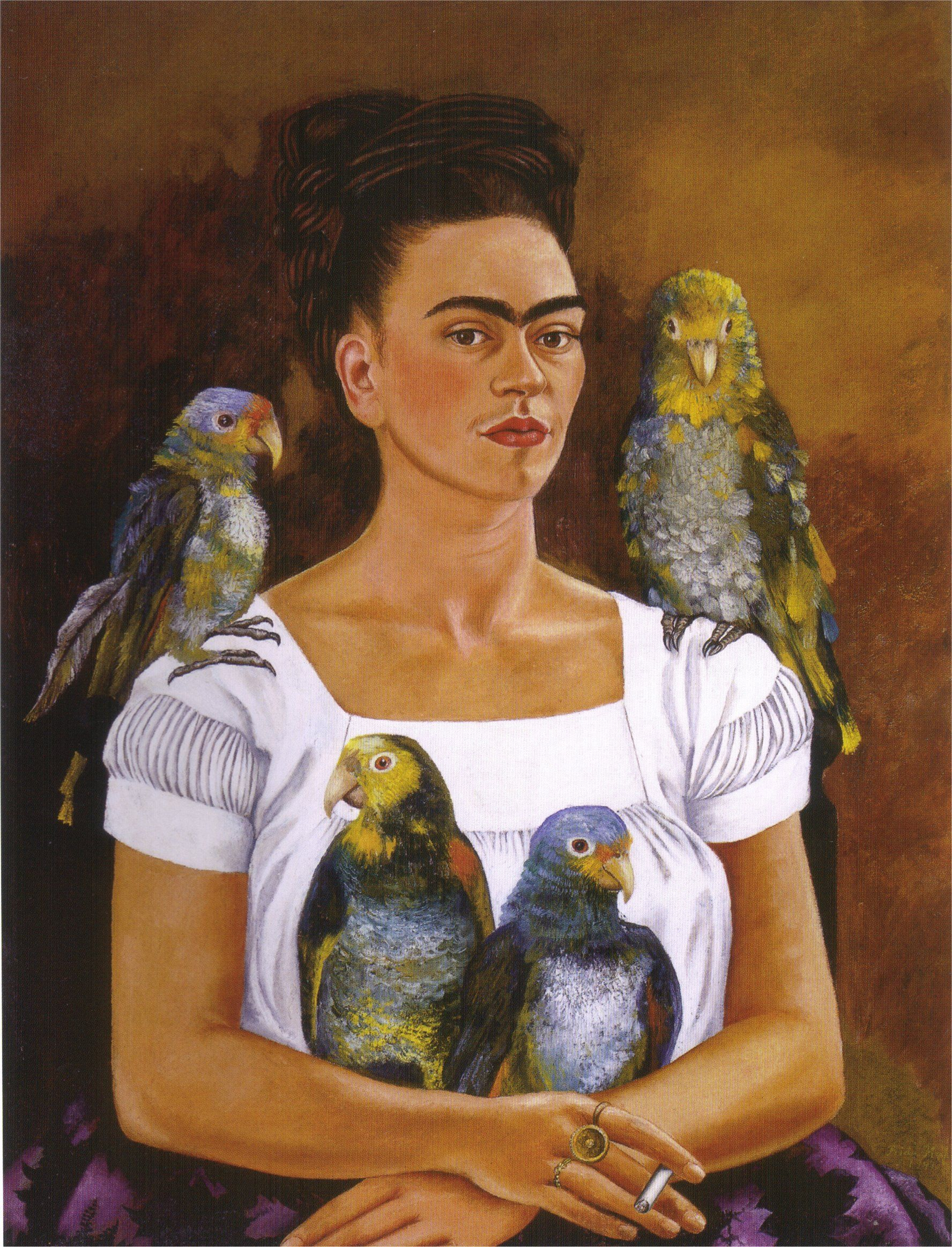 Me and My Parrots, 1941 - Frida Kahlo - WikiArt.org | art ...
