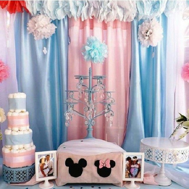 Mickey And Minnie Baby Shower Party Ideas In 2019 Mickey