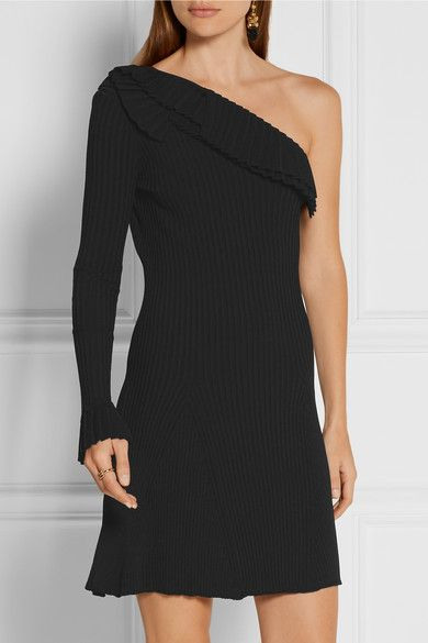 Black ribbed-knit Slips on 83% viscose, 17% polyester Dry clean Made in Italy