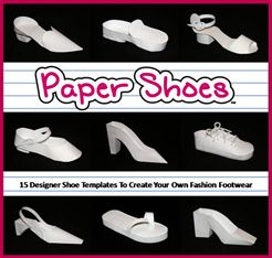 Awe some templates to make paper shoes handmade for How to make paper shoes templates