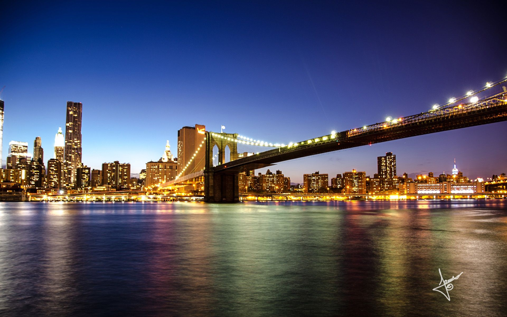 Brooklyn Bridge New York HD Desktop Wallpaper Brooklyn