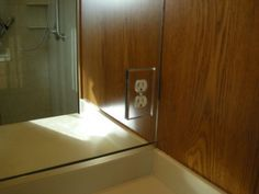 Mirror Totally Bonded Around J Box Do Not Over En Outlet Cover Plate