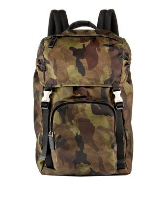 6aadade57097 australia prada nylon messenger bag 0f9c4 7cb5e; switzerland camo backpack  by prada at neiman marcus. f95e3 433a4