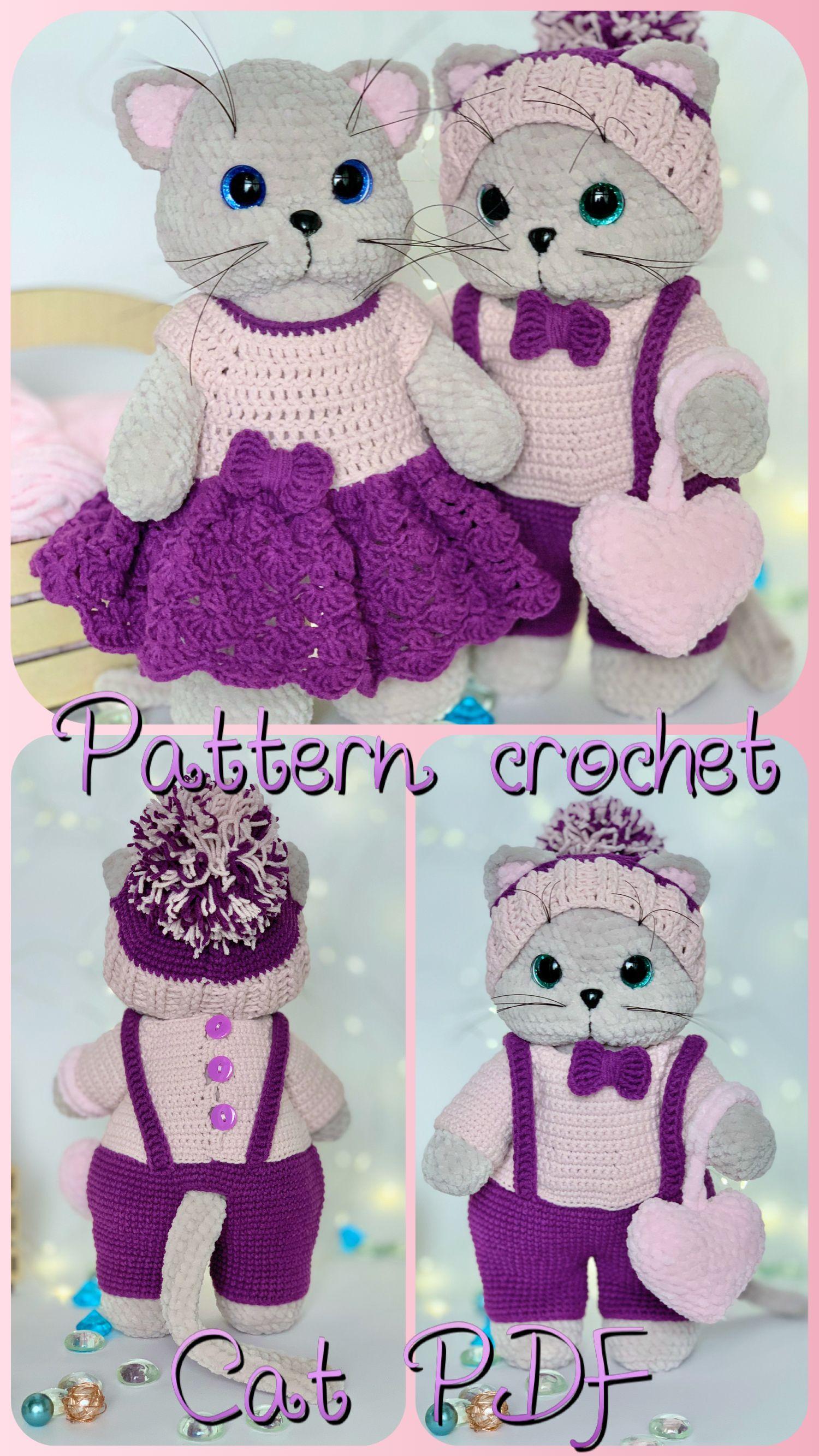Cat crochet pattern amigurumi plush toy Etsy in 2020