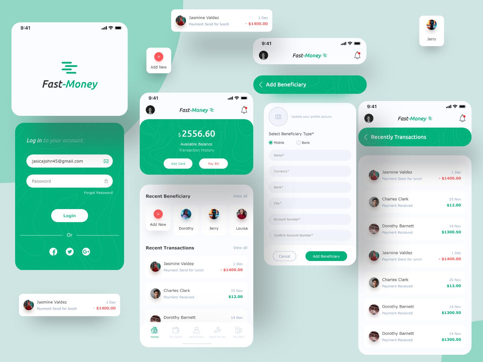 FastMoney ( Banking App ) in 2020 Banking app