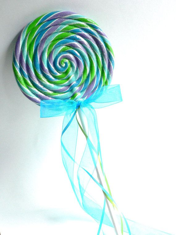 Fake Lollipop LARGE Peacock Purple Blue by twistedlollyboutique, $16.00