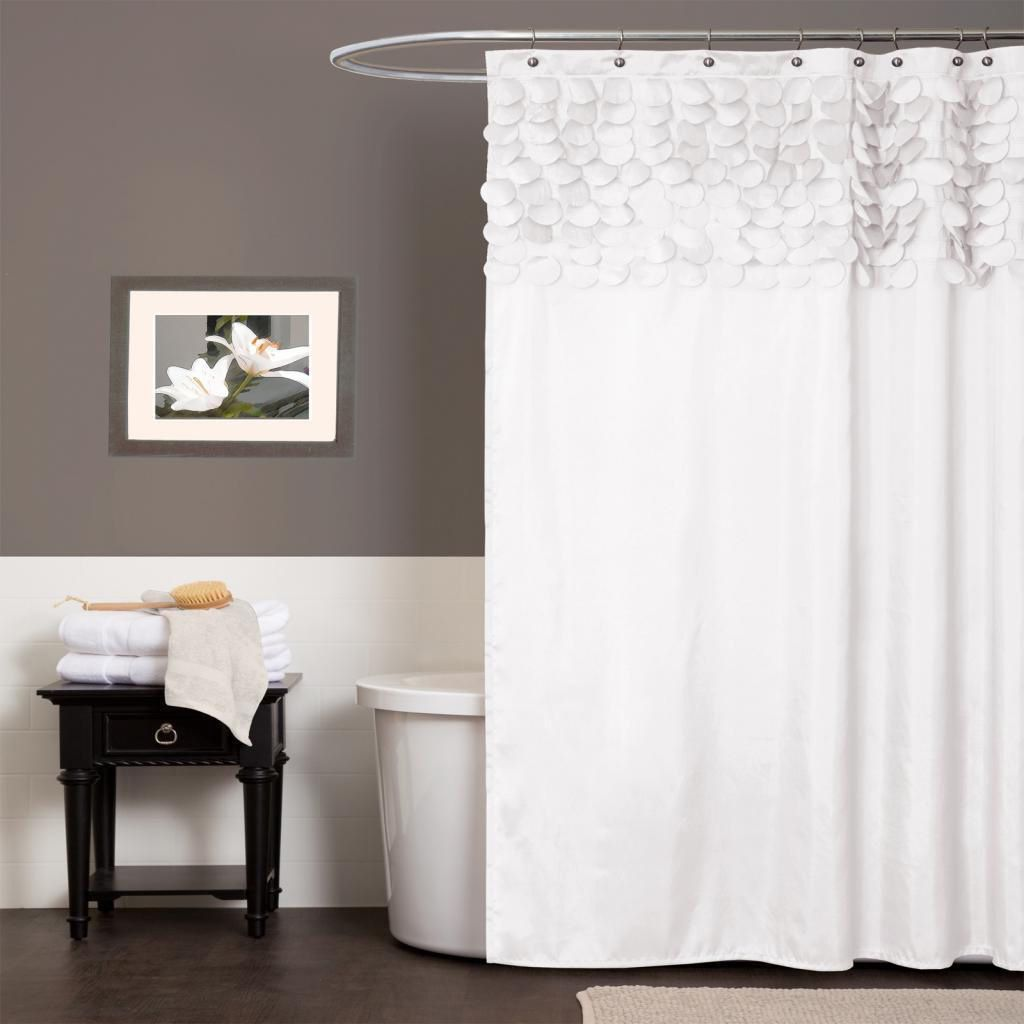 Lush Decor Lillian White Shower Curtain By Lush Decor White