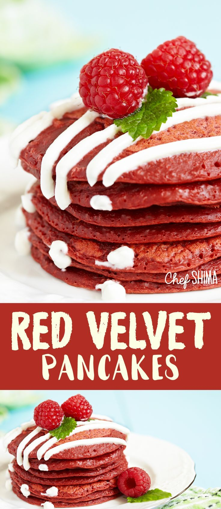 Red Velvet Pancakes | DELICIOUS! I'm addicted to red velvet... yummy!