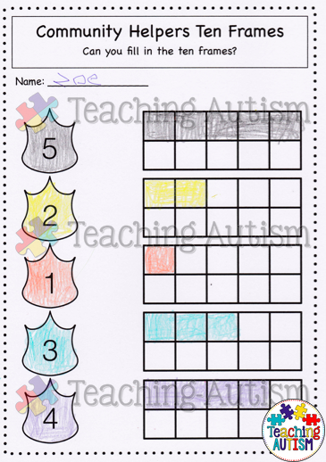 Community Helpers Math Worksheets | TPT Deals from Other ...