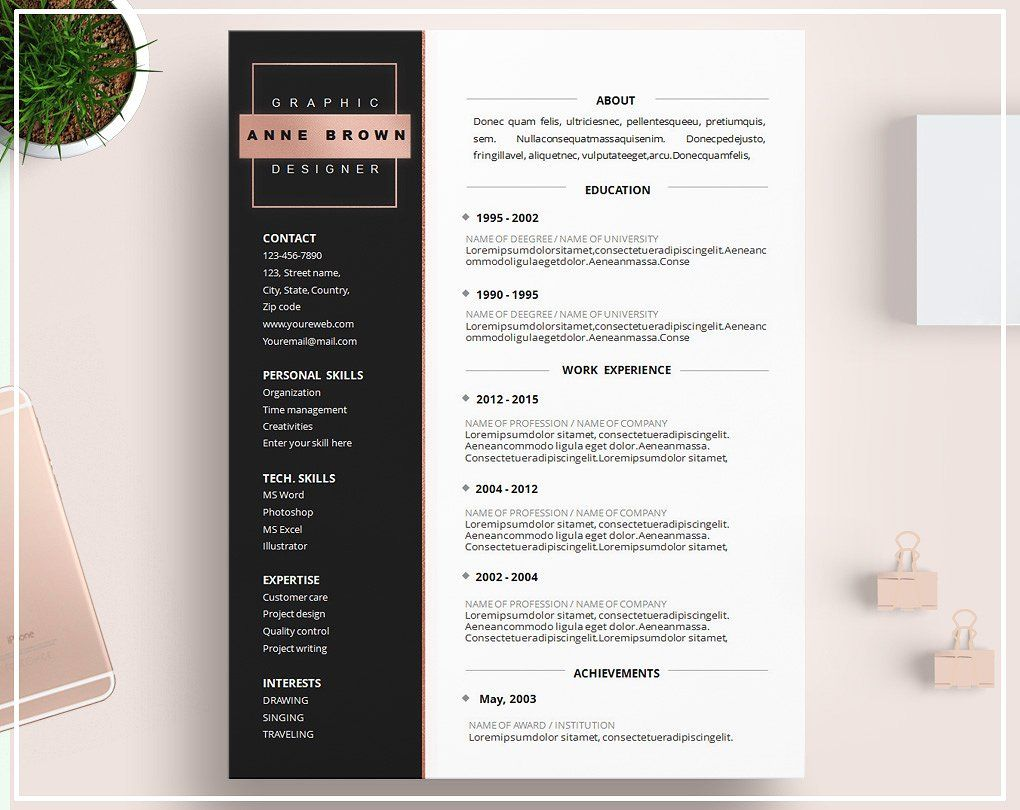 Related image Cv template, Resume design template