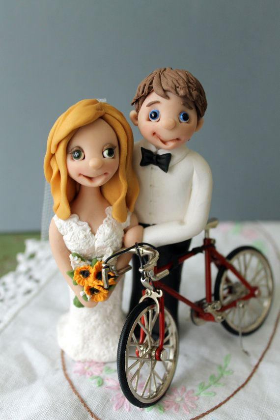 Personalized Bicycle Wedding Cake Topper