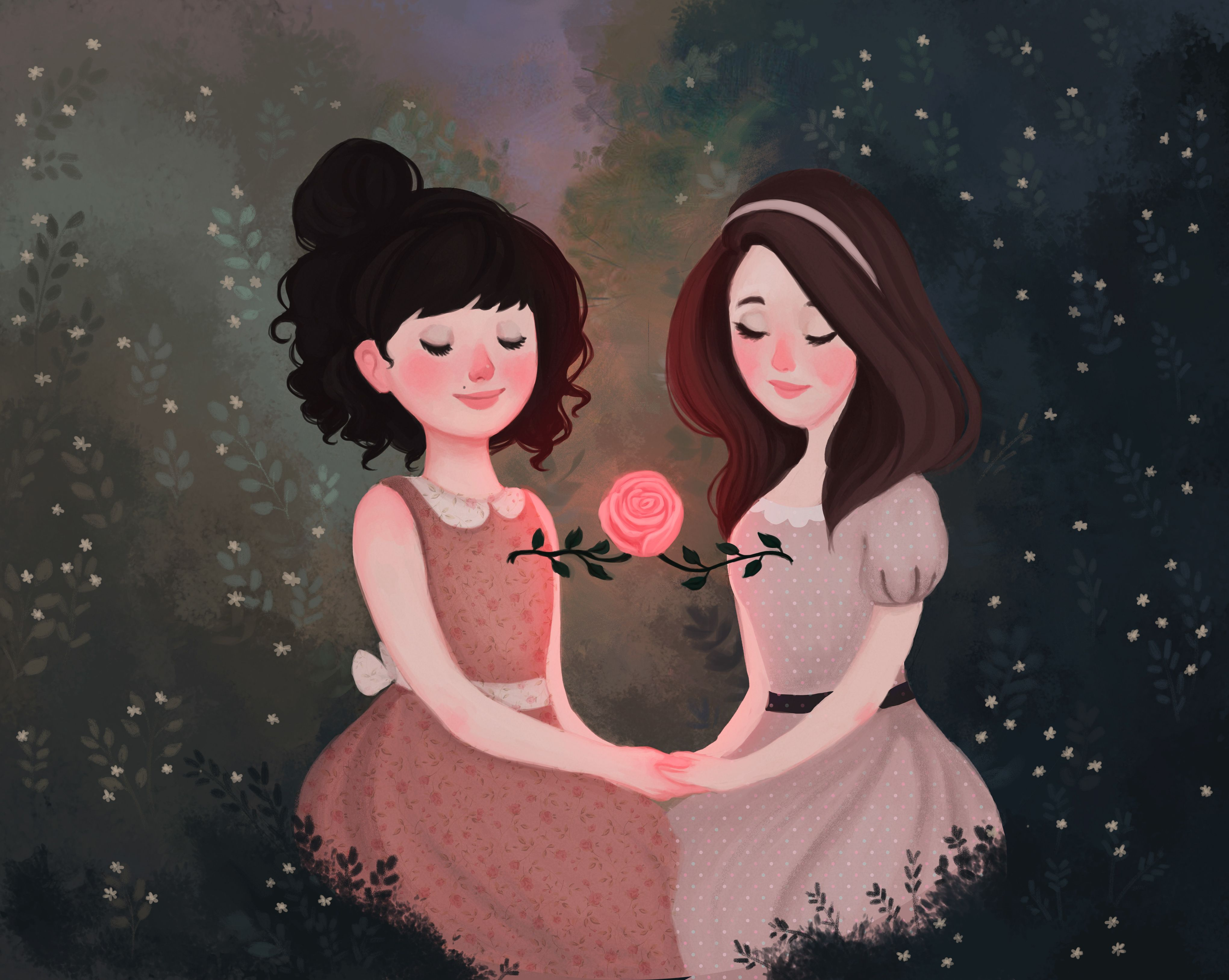 Check Out This Behance Project Sisters Https Www Behance Net Gallery 62310003 Sisters Sisters Drawing Girls Cartoon Art Cute Sister Pictures