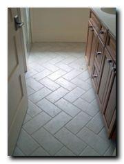 Herringbone Tile Floor Pattern Using 6 X 12 Small Bathroom Tiles Herringbone Tile Floors Flooring