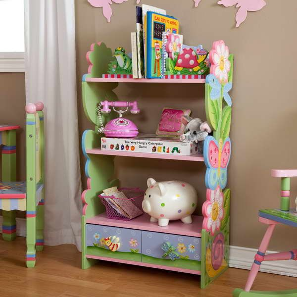 bookshelf bedroom storage colorful white bins sling and bookshelves kids rilane great with