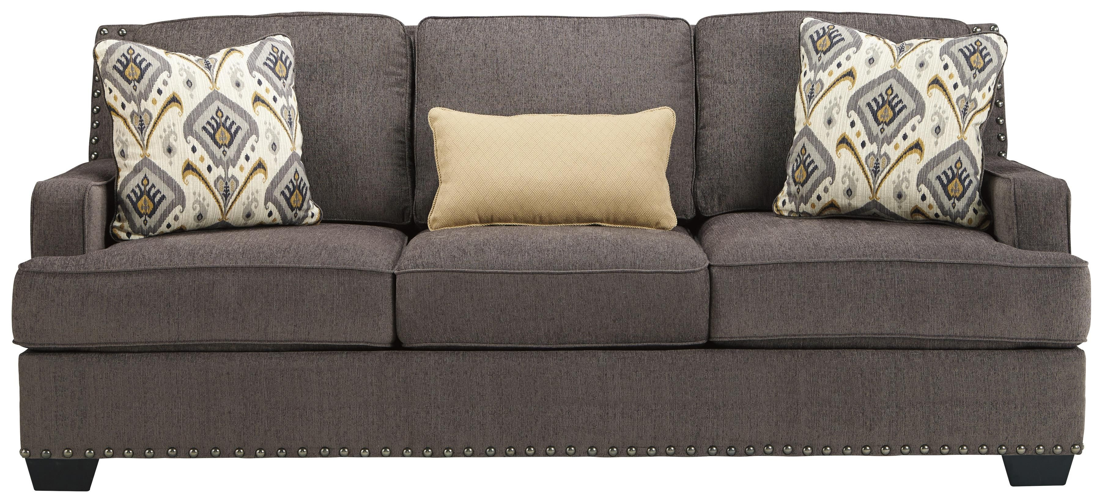 Benchcraft Barinteen Sofa With Track Arms And Nailhead