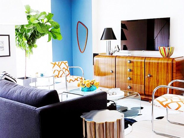 Shop the Room: Sarah Richardson's Midcentury Lounge: The look of this energetic space, designed by Sarah Richardson, can soon be yours. via @domainehome