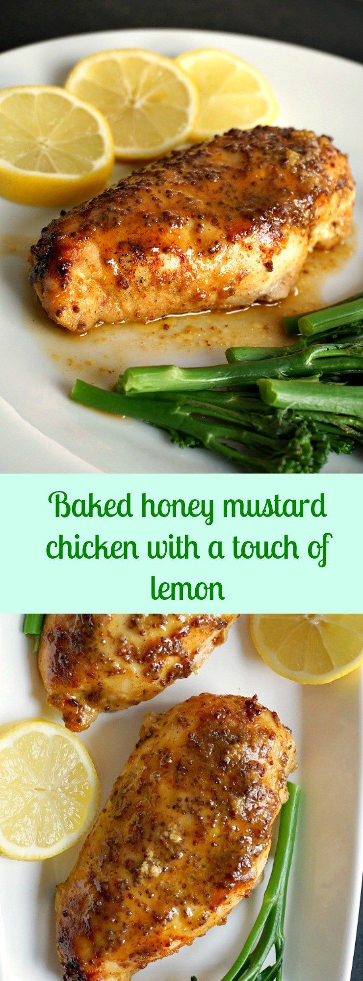 baked honey mustard chicken with a touch of lemon an amzing meal