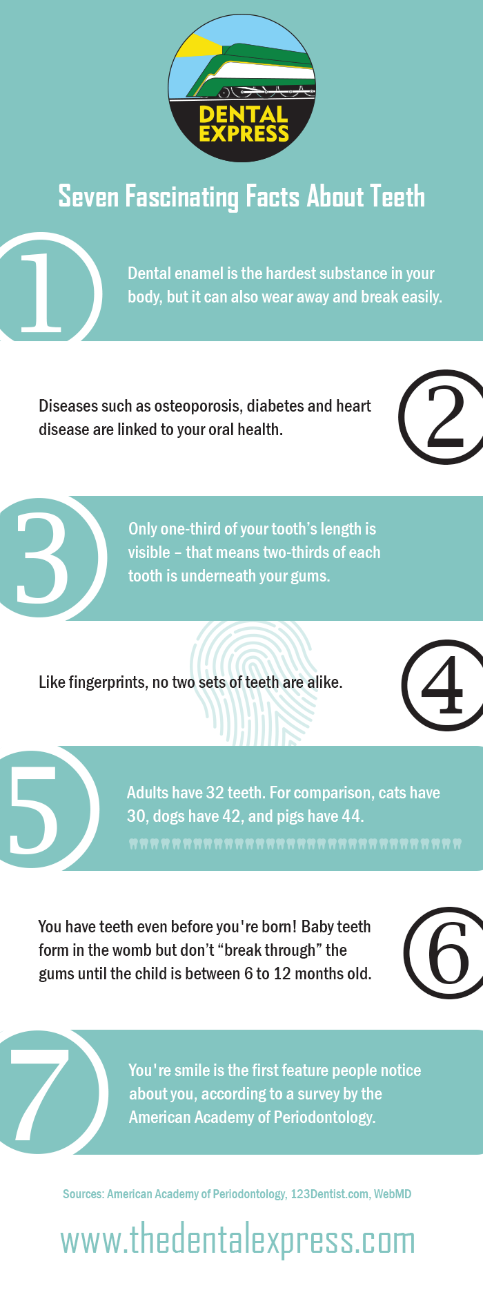 Seven Fascination Facts About #Teeth #infographic