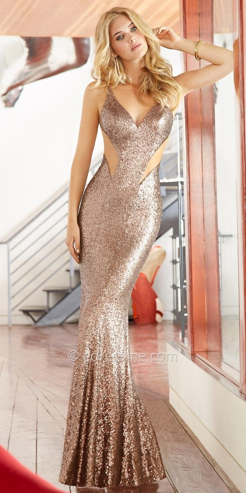 Illusion glamour cut out long dresses by Faviana | A Formal Affair ...